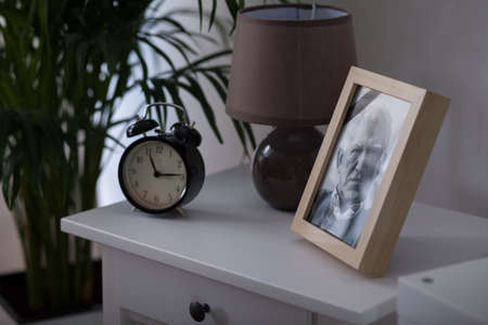 framed picture: Framed picture of an elderly man who died
