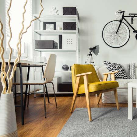 Interior de la sala de estar contemporánea para inconformista