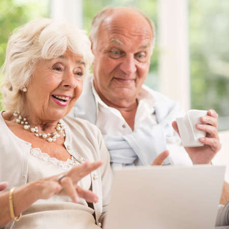 amorous: Amorous senior couple spending pleasant time together