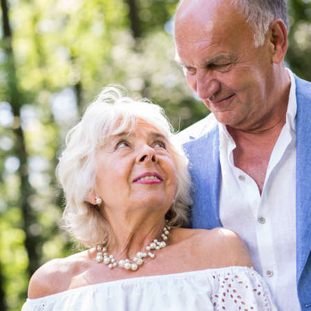 love image: Image of passion and love in happy mature marriage