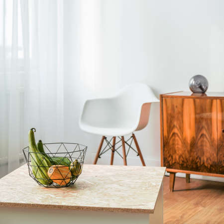 APARTMENT LIVING: Picture of small room with hipsters details Stock Photo