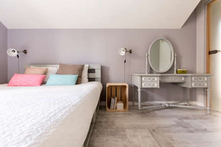 kingsize: Shot of a modern bedroom with king-size bed