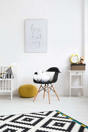 designer baby: Interior of a modern baby room with mascots