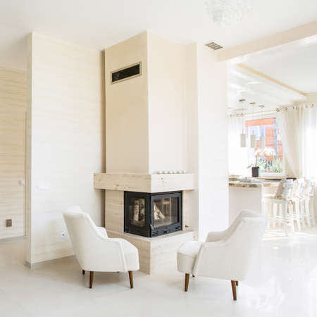 fireplace home: Beauty home in elegant style with fireplace