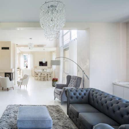 luxury apartment: Horizontal view of interior of luxury apartment Stock Photo