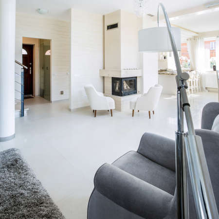view of a spacious living room: Photo of the beautiful interior of a luxury apartment