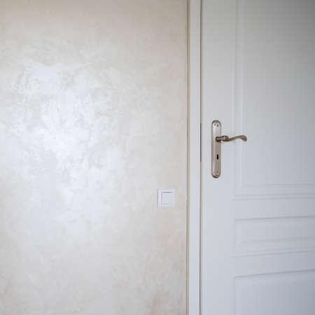 stucco: Horizontal view of stucco on the wall