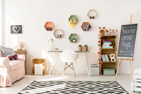 interior room: Shot of a modern creative room for children Stock Photo
