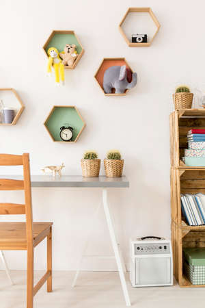 cosy: Shot of a cosy minimalist room for children