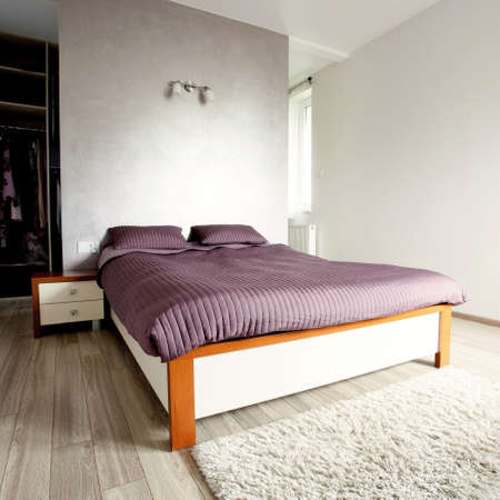 luxury bedroom: Inside of the new luxury clean bedroom