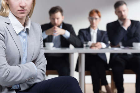traineeship: Young applicant after a stressful job interview