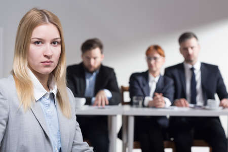 traineeship: Young stressed applicant after the job interview