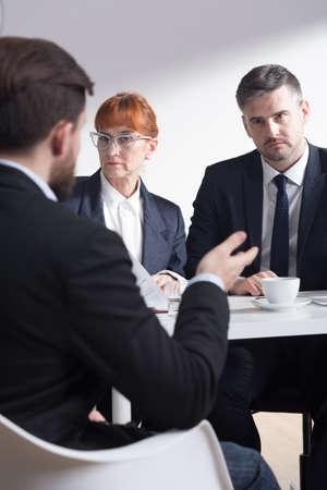 traineeship: Shot of recruiters listening to a job applicant