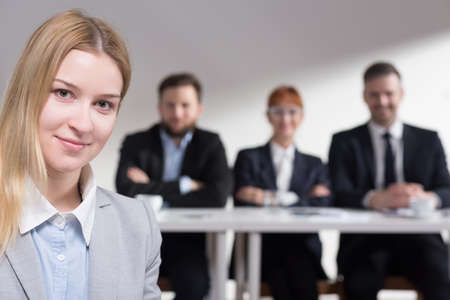 traineeship: Young applicant after the job interview