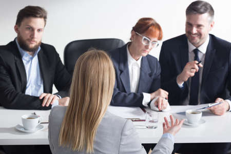 recruiters: Shot of recruiters talking with a job applicant