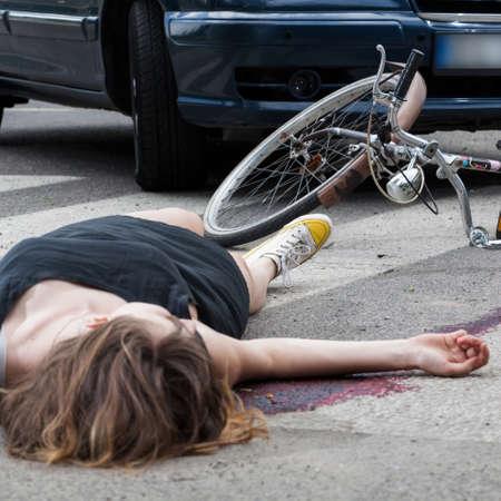 Weergave van ongeval op de voetgangersoversteekplaats