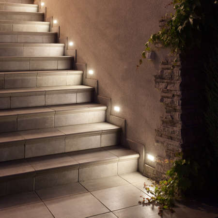 illuminated: Light and beautiful stairs of the terrace