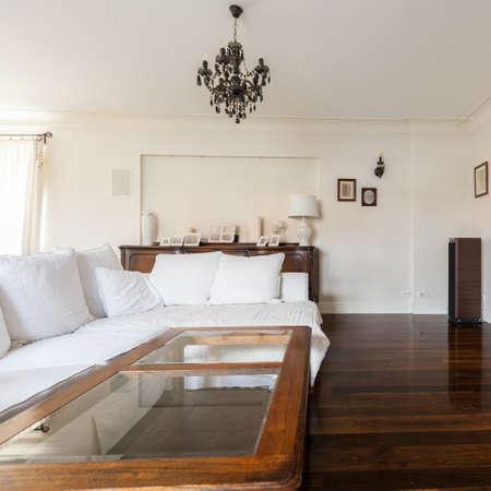 luxury living room: Elegant luxury living room with retro details Stock Photo