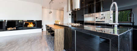 Shot of a kitchen in a spacious modern house
