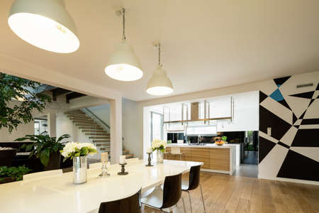 interior shot: Shot of a modern interior in a spacious house