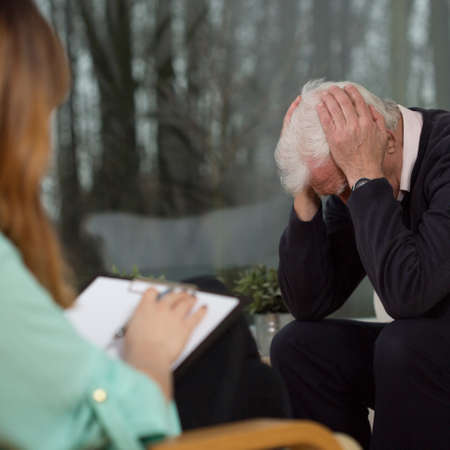 neurosis: Senior at psychotherapy session