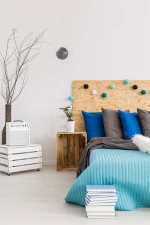 bedroom furniture: New bedroom with handmade, wooden furniture, white walls