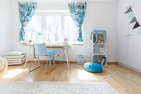 Shot of a spacious cosy childrens room Stock Photo