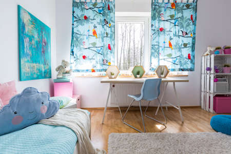 cosy: Shot of a modern cosy childrens room