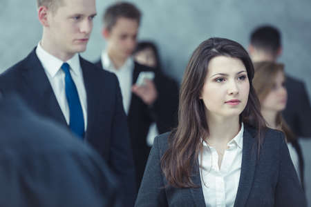 businesswoman suit: Shot of a big crowd of businesspeople
