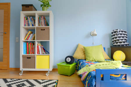 Shot of a colorful modern childrens room Stock Photo