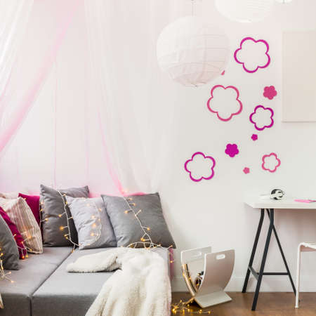 girly: Image of girly style room for little princess