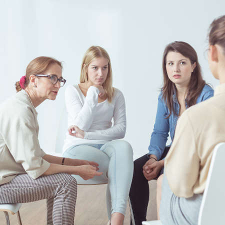 Picture presenting psychotherapy for people with problems