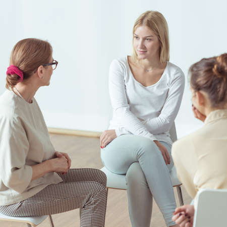 Meeting for young active women, support group Imagens