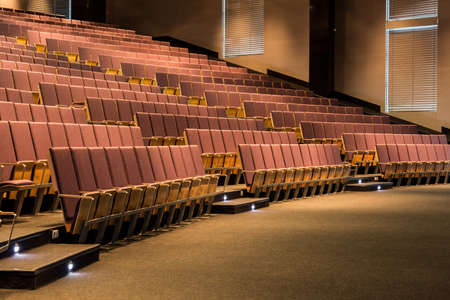 lecture theatre: Fragment of an auditorium of a modern lecture hall