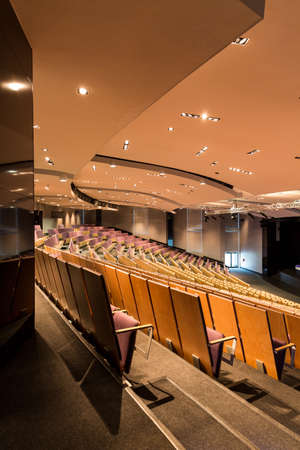 drop ceiling: Modern lecture theatre seen from the back
