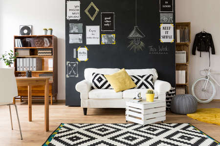 comfortable: Shot of a creative and comfortable living room interior