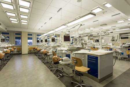 Shot Of A Fully Equipped Dentistry Laboratory For Students Stock Photo Picture And Royalty Free Image 60366454