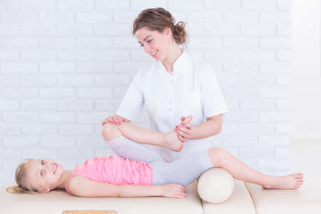Physiotherapy for leg pain at child physiotherapy clinic