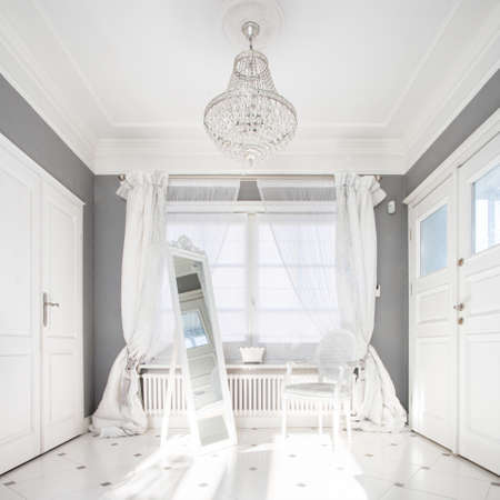 expensive: Classic bright interior in expensive residence, vertical Stock Photo