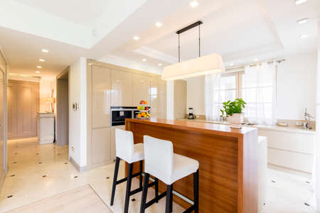 illuminated: Very bright and roomy kitchen linked with a spacious hall