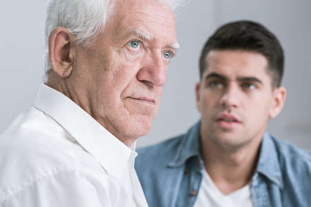argument from love: Cropped shot of an offended elder man and his son