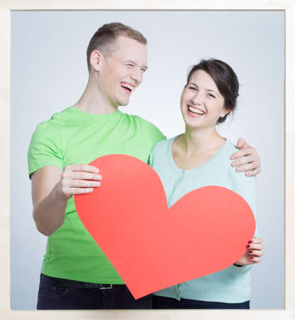 Picture Of Happy Couple And Ex-girlfriend In Background Stock Photo ...