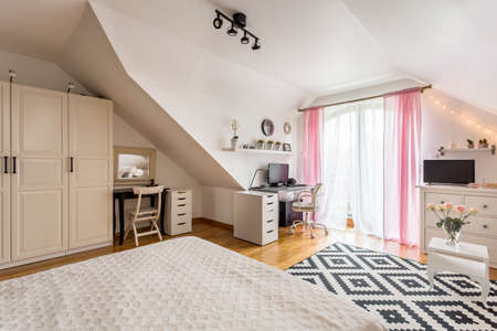 cosy: Cosy house- bright spacious multifunctional interior with terrace Stock Photo