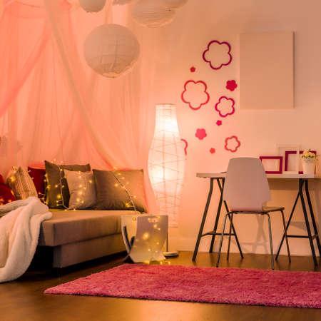 comfy: Image of stylish comfy interior for princess girl