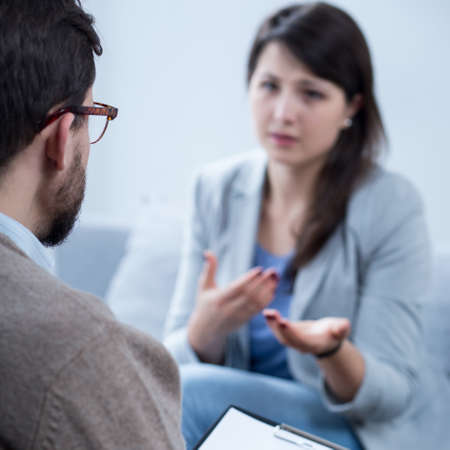 psychotherapy: Photo of woman with problem on psychotherapy