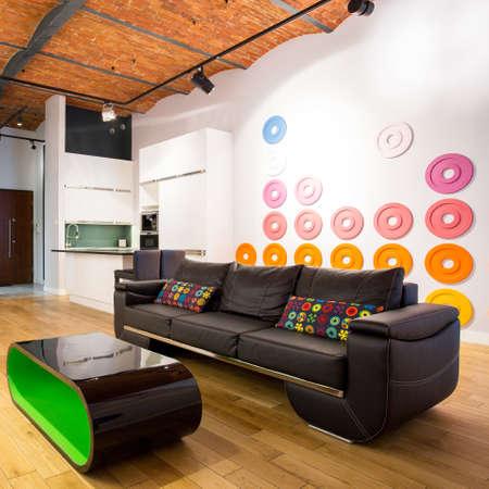 designed: Picture of designed interior with contemporary furniture Stock Photo