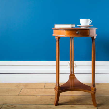 old furniture: Close-up of wooden table in vintage style