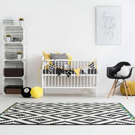 Ontsproten van een moderne babyruimte Stockfoto