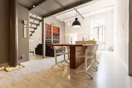 entresol: Shot of a spacious loft apartment full of light