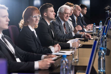 Politicians fighting for voters during press conference